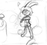 balloons closed_eyes hug lick Luna pencil_sketch squeeze squish tounge  // 568x546 // 32.8KB