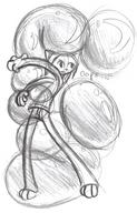 balloons bubble felyne hug Kilo oops open_mouth pencil_sketch sketch squish straddle // 715x1113 // 1.2MB