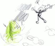 bottomless doodle fish flower ink ink_sketch leaf open_mouth shouting sketch unidentified_character whirlwind yelling // 1692x1424 // 175.8KB
