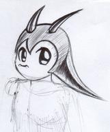 androgynous Bubbles female helmet ink ink_sketch long_ears Metal_Bubble_Dragon no_mouth sketch // 848x1011 // 196.3KB