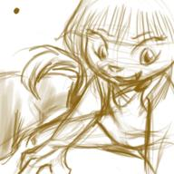 digital digital_sketch fang felyne female kibrosian Maribelle open_mouth sketch skirt straddle tooth // 300x300 // 124.7KB