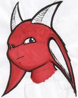 colour Dracon dragon horn ink ink_sketch long_ears marker Nagoradria_einess sketch // 1200x1498 // 392.8KB