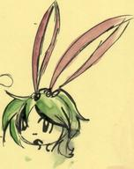 androgynous bow colour doodle green_hair large_bow open_mouth paint watercolor what // 720x908 // 106.3KB