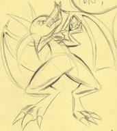 androgynous claws draconic fangs featureless_crotch horns long_ears open_mouth teeth wings // 1314x1478 // 295.0KB