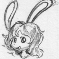 Bunni doodle female ink ink_sketch long_ears Luna open_mouth silly sketch // 434x434 // 44.5KB