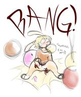 BANG Bunni Gallivanting It'sMyParty Peaches_Gallivanting_Cream androgynous author_fancy balloon_blowing balloon_inflation balloon_popping balloon_sitting balloons bits blush buttslam colour digital digital_sketch mypaint open_mouth pant panting questionable rough s2p sketch sound sweat text tooth // 960x1152 // 592.6KB