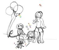 3 androgynous balloons birthday bulge chibi chibishanian Chuian digital digital_sketch drunk female float giftart happy happy_birthday hekshanian helium Inhuman Kilo male Miadren mypaint open_mouth panting shorts sketch tooth undies unidentified_character Unnamed_character Webcomic Yoshi_Lelio // 1216x1024 // 369.5KB