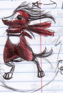 bandana colour critter doodle ink ink_sketch long_horns male notes sketch unidentified_character what // 599x877 // 130.8KB