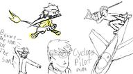 airplane attack colour Cyclopes_Pilot_Man digital digital_sketch doodle Drawn_By_Others pchat silly sketch spear starbomber109 sword VS weapon // 800x450 // 20.3KB