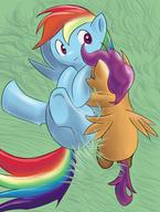 alternate_version back CMC colour cutie_mark Cutie_Mark_Crusaders digital female flank Friendship_is_Magic grass mypaint My_Little_Pony pony Rainbow_Dash Scootaloo // 787x1039 // 858.4KB