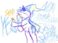 author_indifferent colour digital digital_sketch doodle female filly Friendship_is_Magic Great_And_Powerful_Trixie My_Little_Pony pinecone pony sketch snap Trixie unicorn what // 640x480 // 34.5KB