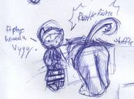 action author_indifferent butt dialogue doodle effects feline felyne ink ink_sketch kibrosian Kilo King leaning male open_mouth rustle shuffle sketch sound text // 478x351 // 42.1KB