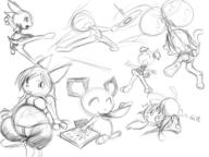 action_pose author_like balloons bulge Bunni delivery fanart featureless_crotch felyne FIP fluffy_tail Glitter_Sparkles Kiddle Kilo long_ears Nintendo open_mouth paws Pichu pizza Pokemon questionable silly tail_view Tori undies // 1600x1200 // 533.3KB