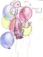 androgynous author_indifferent balloons bow bowtie bracelet colour crayon doodle featureless_crotch Flaaffy inflatable_ring male monologue open_mouth pencil pencil_sketch Pokemon sketch tailring text // 514x673 // 130.3KB