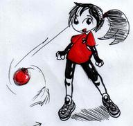author_like BALLTHINGY bomb Dyna human ink_sketch open_mouth Red_Shirt shoes shorts // 1031x979 // 68.4KB