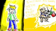 Amberly androgynous author_like colour Cream crown digital digital_sketch doodle featureless_crotch female Friut_cannon fruit human male open_mouth pchat princess shoes silly silver_hair sketch strawberry_fruit Yum // 800x450 // 237.4KB