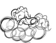 author_indifferent balloons digital digital_sketch doodle female filly fim MLP Pinkie_Pie pony rough sketch sleeping // 861x670 // 257.2KB