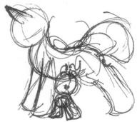 author_indifferent female horn ink ink-sketch male Pinkie_Pie pony rough sketch Squeaky_Pinkie unicorn // 522x464 // 54.9KB