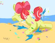 Apple_Bloom author_fancy author_indifferent balloons balloon_bits balloon_popping beach bits colour Confetti filly FireAlpaca MLPFiM plot pony popping s2p sitting text warm wut // 1708x1343 // 590.0KB