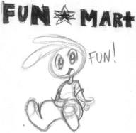 FUN-MART ambiguous_gender androgynous author_fancy author_like bunny ink long_ears open_mouth pencil pencil_sketch sitting sketch text // 577x562 // 60.0KB