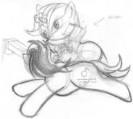 action author_indifferent Blackjack colt cutie_mark earth_pony Fallout_Equestria_Project_Horizons fanart female filly guns male P-21 pencil pencil_sketch pony sketch unicorn // 850x762 // 145.2KB