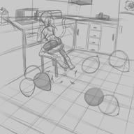 alternate_version author_fancy author_like background balloons balloon_popping bits chair digital digital_sketch doodle feline female FireAlpaca interior kitchen popping rough scenery shorts sketch Sparky // 5000x5000 // 2.4MB