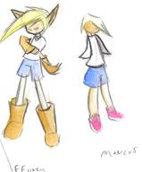 Affurey author_like blonde_hair Marcus shorts silver_hair watercolor // 471x569 // 217.9KB