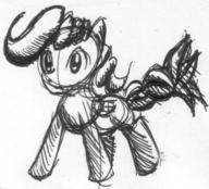 ambiguous author_indifferent doodle ink ink_sketch pegasus pony sketch // 720x652 // 346.2KB