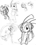 3 author_indifferent brush Bunni early_design ink_sketch long_ears open_mouth Ribbons silly // 632x797 // 156.5KB
