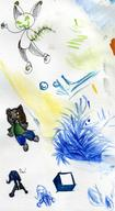 author_indifferent bear bubble_fruit bush Dragonnette ice ink_sketch KTAN long_ears Pao shapes silly watercolor // 850x1553 // 159.5KB
