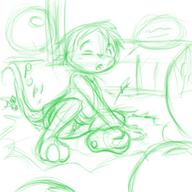 author_fancy author_like balloon_popping bed bits blush butt_slam digitaketch flinch Iori l_sballoons Miadren one_eye_open open_mouth slam // 300x300 // 100.4KB