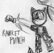 author_like pencil_sketch PUNCH RAWKET robot // 729x715 // 22.7KB