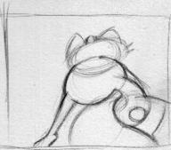 author_indifferent fanart Meowth Nintendo pencil_sketch perspective Pokemon rear_view // 238x210 // 8.2KB