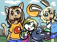 author_like author_love background balloons blonde_hair blue_eyes bubble Bunni colour felyne female green_eyes Kibrosa Kilo Kim Luna male Meon open_mouth tounge Wolfe // 800x600 // 69.7KB