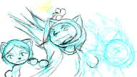 action_pose angry attack author_indifferent digital_sketch energy felyne Kilo Kim light_elemental Mia Miadren open_mouth star sun trio unhappy // 800x450 // 36.7KB