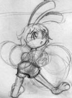 Bunni Luna author_indifferent balloons long_ears open_mouth pencil_sketch tail_view // 632x852 // 56.8KB